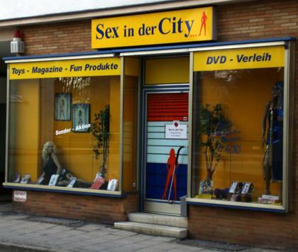 Eingang Erotikhandel, Sexgeschäft Bayreuth, Sex in der City